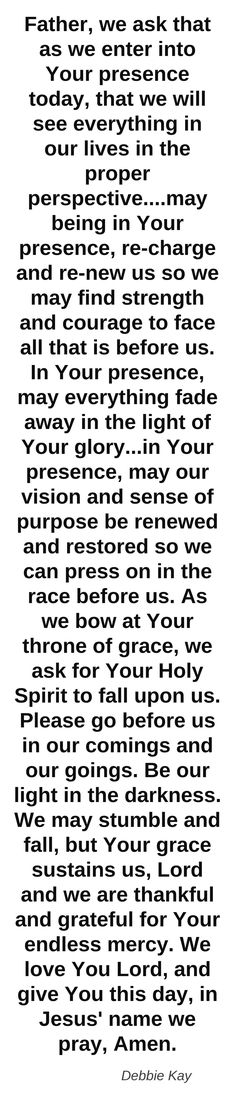 Pray each day Prayer Times, Prayer Scriptures, Bible Prayers, Faith Prayer, God Prayer, Power Of Prayer, Religious Quotes, Spiritual Quotes, Prayer Changes Things