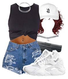 """""""want some chipotle"""" by lovebrii-xo ❤ liked on Polyvore featuring October's Very Own, NIKE and Wet Seal"""