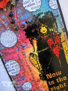 FRIENDS in ART New @finnabair stamped tag on blog