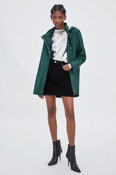 b4ed8c37815 Image 1 of RUBBERISED RAINCOAT from Zara Green Raincoat