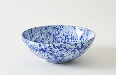 Blue on Blue 13 Inch Splatterware Serving Bowl from Italy via March.