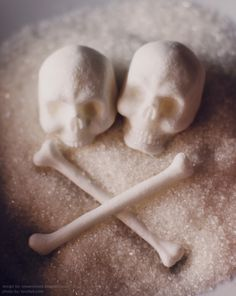 These pictures follow the creation of skull and bones sugar cubes from design to completion (via snowviolent). I can find some similar cubes for sale on Etsy, but they're far more Dia de Los Muertos, and I really love the realism of these.
