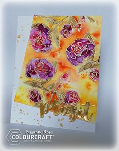 ColourCraft: Greeting Card with Embossing Resist and Brushos