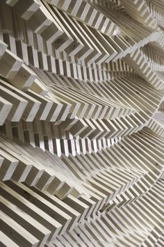 experimental architectural installation using digital fabrication tools by silvan oesterle