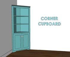 corner cupboard building plan - for the bathroom