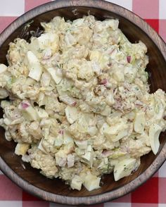 "Cauliflower ""Potato"" Salad   This Cauliflower ""Potato"" Salad Will Get You In The Mood For Spring"