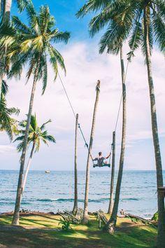Charly's Chocolate Swing By The Sea   Eastern Bali Near Candidasa