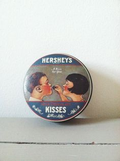 Vintage Hershey Kisses Collectible Candy Tin . Hat Box . Retro Tin on Etsy, $12.00