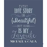 Show your special someone just how much you care with the Love Story Personalized 50x60 Fleece Blanket. Find the best personalized romantic gifts at PersonalizationMall.com
