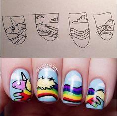 2015 Rainbow Spring Nails | Fun Nail Ideas by Makeup Tutorials at http://www.makeuptutorials.com/nail-designs-spring-nail-art