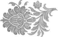 Gallery.ru / Фото #97 - Embroidery II - GWD Jacobean Embroidery, Crewel Embroidery, Cross Stitch Embroidery, Applique Patterns, Applique Designs, Embroidery Designs, Hamsa Design, Paper Cutting Patterns, Crochet Motif