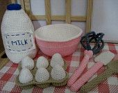 Crochet Pink Play Baking Set