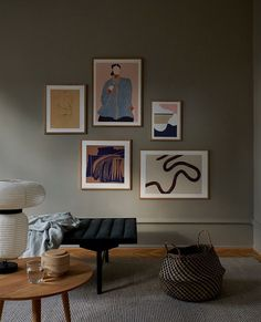 Adding some warm rusty colours to a moody tonal wall, and pairing the art prints with soft furnishing and some autumnal ferns, is a perfect way to get your home ready for the chilly season. This art wall features: COMPOSITION 01 by Berit Mogensen Lopez CURTAIN by Felix Pöttinger CONTRASTE by Anna Johansson SERENDIPITY by By Garmi MOON NO. 01 by Little Detroit  Discover more from Copenhagen based The Poster Club! We offer Worldwide Shipping! #artwall #theposterclub Room Decor, Wall Decor, Scandinavian Living, Beige Walls, Minimalist Interior, Poster Wall, Decoration, My Room, Interior Inspiration