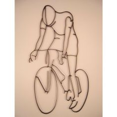 """Bicyclist / Bicycle Male Iron Sports Shadow Decorative Wall Art by Decor by HDC. Save 10 Off!. $46.99. Black semi-gloss finish. Place on any background color for a three dimensional effect. Wall art measures 33"""" x 19"""". Can be hung indoors or out. They are made of wrought iron that is .5 """" wide and .25 """" thick. This fun and unique iron decorative silhouette can be hung indoors or out. They are made of wrought iron that is .5 """" wide and .25 """" thick and fashioned into outlines of athletes in…"""
