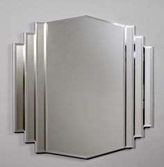 Art Deco mirror for the bathroom.                                                                                                                                                                                 More