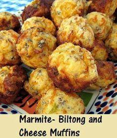 Marmite Cheese & biltong mufffins.