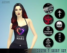30stm t-shirt set for females at Jezz Sims • Sims 4 Updates