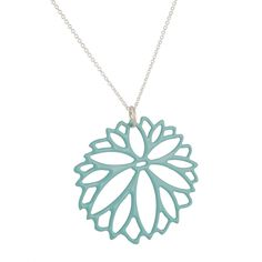 Zinnia pendant in Aqua by Daphne Olive.