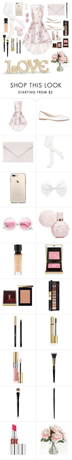 """""""tea party"""" by nora-smart-style ❤ liked on Polyvore featuring Chi Chi, Verali, Hue, ZeroUV, Yves Saint Laurent, Home Decorators Collection and Lenox"""