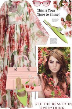 Dolce+&+Gabbana+silk+chiffon+dress from anne-irene  - trendme.net