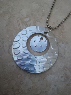 Upcycled Soda Pop Can Circles Pendant | Rainy Roots Studio #handmade #jewelry