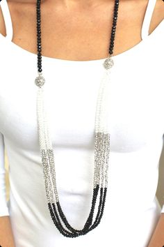 This long beaded necklace can be worn three ways. Lead free & nickel free Chain length approximately 36 inches Nonadjustable chainTwo Tone Bead Multi Wear Necklacemy gold jewelry Beaded Jewelry Designs, Boho Jewelry, Jewelry Crafts, Jewelry Sets, Jewelery, Silver Jewelry, Jewelry Necklaces, Fashion Jewelry, Long Necklaces
