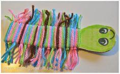 Skapligt Enkelt: Tusenfoting Diy For Kids, Crafts For Kids, Arts And Crafts, Crafts To Make, Easy Crafts, Easy Art Projects, Textile Fiber Art, Kids Room Art, Cardboard Crafts