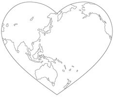World Heart digital image -- free from Birds Cards