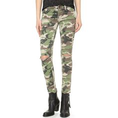 DL1961 Emma Power Legging Jeans (€170) ❤ liked on Polyvore featuring jeans, warden, camouflage jeans, zipper skinny jeans, camo print jeans, frayed jeans and faded jeans