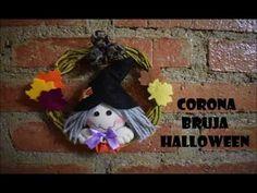 DIY Corona bruja Halloween - YouTube