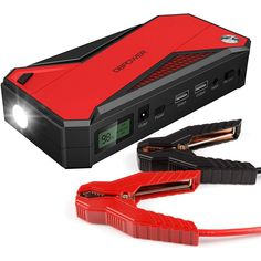 358 best automotive images on pinterest amazon products blade and dbpower 600a 18000mah portable car jump starter up to 65l gas 52l diesel engine battery booster and phone charger with smart charging port blackred fandeluxe