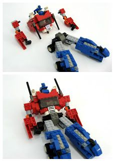 Nearly 5 years ago, I made this guy and it turned out to be quite a hit. Click below for the mocpages.com gallery for Optimus Prime:    htt... Lego Transformers, Robot Lego, Lego Duplo, Lego Instructions, Optimus Prime, Lego Therapy, Big Lego, Baby Lane, Lego Mechs