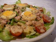 Nizzai saláta recept Quiche Muffins, Hungarian Recipes, Salad Dressing, No Cook Meals, Potato Salad, Paleo, Food And Drink, Tasty, Dishes