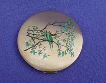 Vintage Stratton Compact w/ Budgies