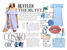 """""""Ruffles of the day"""" by shazzlngta ❤ liked on Polyvore featuring Barneys New York, Ralph Lauren, MCM, Lime Crime, OPI and ruffles"""