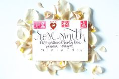 Modern Calligraphy Envelope Addressing for Wedding Bold | Modern Calligraphy Envelope Addressing for Wedding | Katie Michelle Designs | Ashley Cook Photography