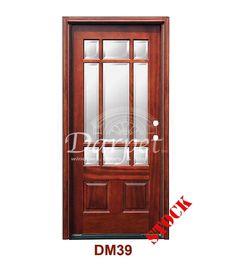 DM55MT6s 6 Lite Contemporary Mist Glass Exterior Wood Mahogany Door   Darpet Interior Doors for Chicago Builders ://darpet.com/products-catalog\u2026
