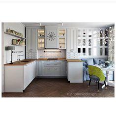 Милая кухня и столовая зона с диванчиком Оцените дизайн от 0 до 10  Сохраняйте в закладки, чтобы не потерять идею - жми на флажок справа под фото✌  Подпишись и увидишь больше красивых идей для интерьера   @ideas.4.interior  @ideas.4.interior  @ideas.4.interior.  Больше кухонь по тегу #кухни_i4i  .  Дизайн @design_decor_interior