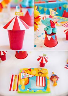 Bright \u0026 Colorful Big Top Birthday Circus Animals  sc 1 st  Pinterest & Red circus : DIY paper art #paperart#diy | paper art | Pinterest ...