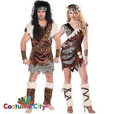 Adults #couples caveman barbarian cavewoman #fancy dress #halloween costume…