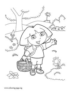 She Is The Main Character Of Series Dora Explorer Have Fun With This Free Coloring Sheet For Kids