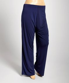 Look at this #zulilyfind! Navy Flare Pants - Plus by DJ Summers #zulilyfinds