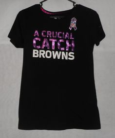 Women's Large T-shirt - Nike NFL - Breast Cancer - A Crucial Catch Browns #Nike…