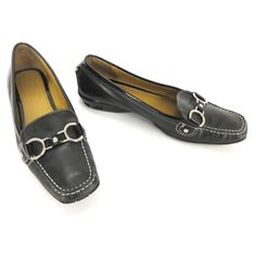 ed23426cd86 Cole Haan Loafer 9 AA Black Leather Patent Horsebit Driving Moccasins  D18571  ColeHaan  WeartoWork. Lace OxfordsLow HeelsWedge ...