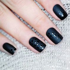 This manicure was with Orly's matte black polish and a dotting tool.