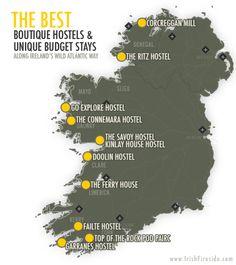 Best Boutique Hostels and Unique Budget Stay Along Ireland's Wild Atlantic Way via @irishfireside