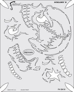 artool freehand airbrush templates return of skull master screamin 2