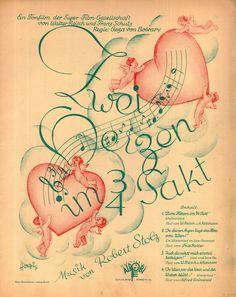 ROBERT STOLZ - ZWEI HERZEN IM 3/4 TAKT - 1930 - 4 LIEDER - ALROBI VERLAG