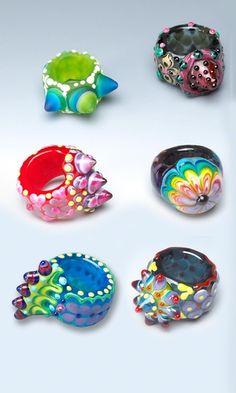 These look kind of fun. Handmade Glass Rings - Fire Mountain Gems and Beads