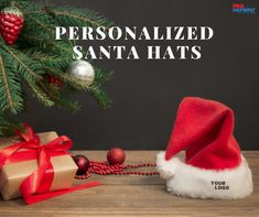 Are you looking for budget-friendly or keepsake holiday promotional gifts? These personalized Felt Santa hats will fit into your bill. Shop now! #customsantahats #santahats #PersonalizedGifts #promotionalgifts #christmas2020 #santahat Unique Christmas Gifts, Christmas Ornaments, Holiday Decor, Santa Hat, Personalized Gifts, Budget, Felt, Hats, Shop